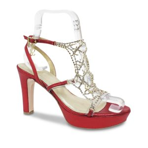 Red Mesh - Swarovski Shoe
