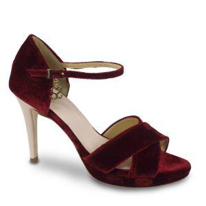 Velvety Wine - Zapato de terciopelo personalizado